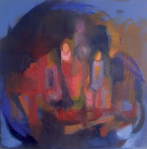 Nail Polish Ghosts - Oil on Canvas - 20 inches x 20 inches - 2008