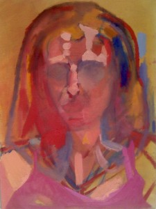 Self portrait Oil on canvas - 16 x 12 inches - 2009